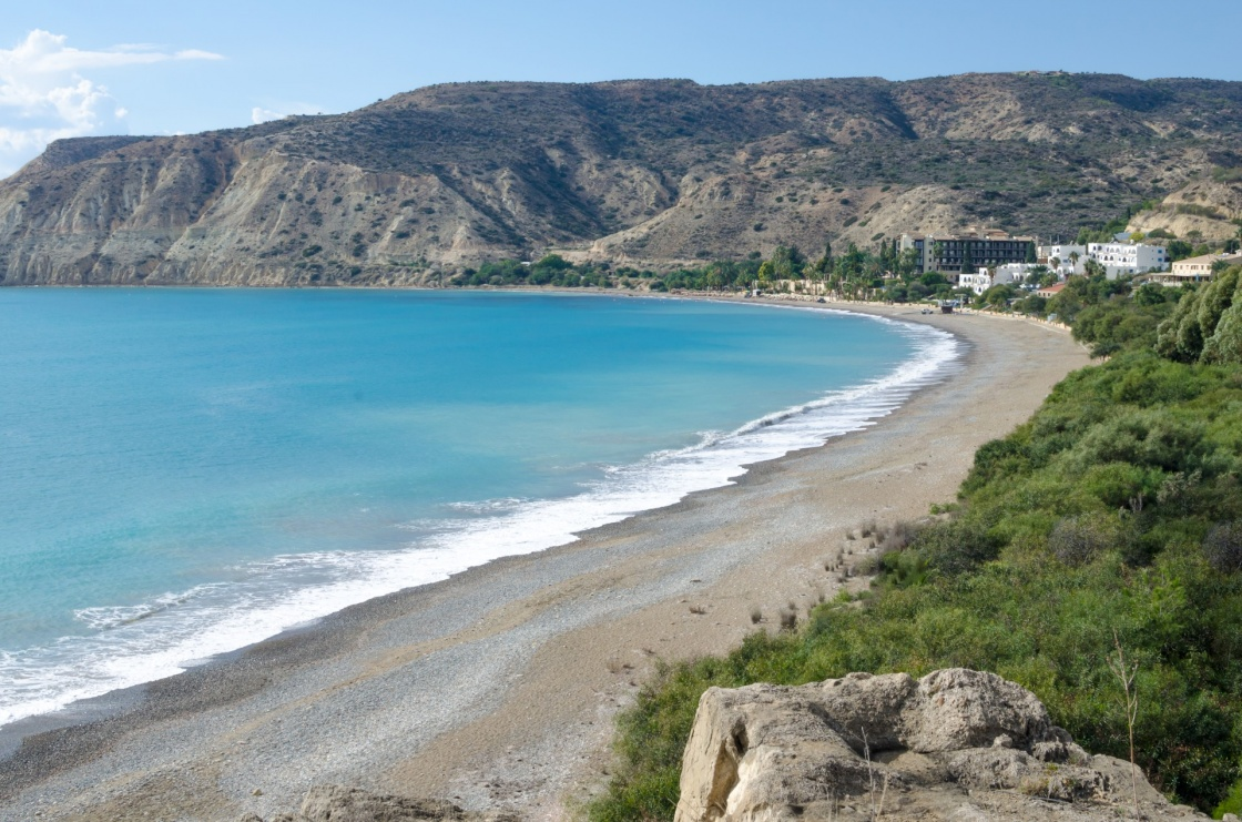 Pissouri bay beach in Cyprus