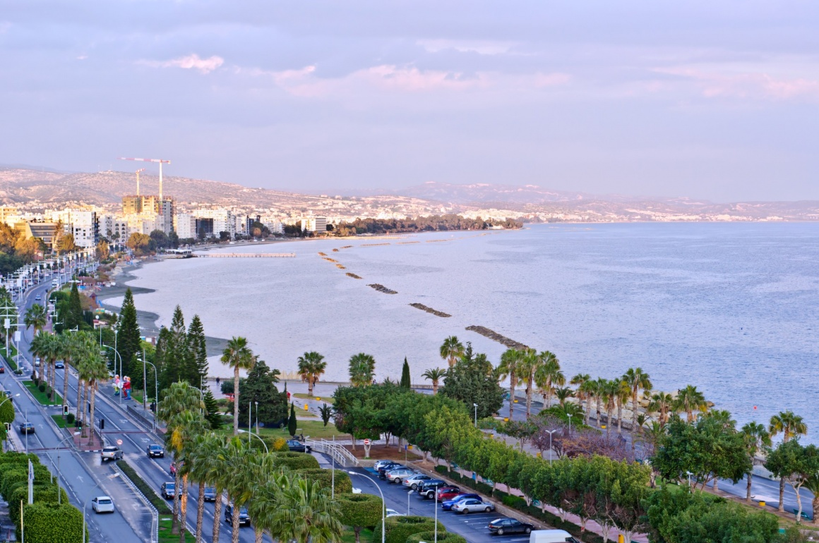 'Limassol, Cyprus. Coastline and beach aerial view' - Cyprus