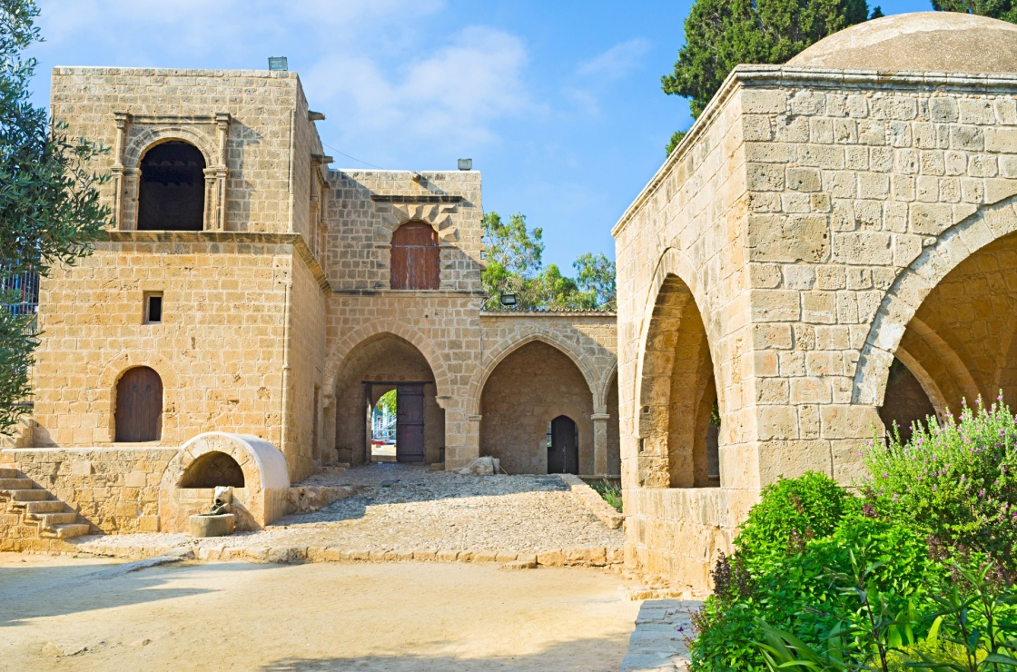 The medieval gate of the Ayia Napa monastery, Cyprus.