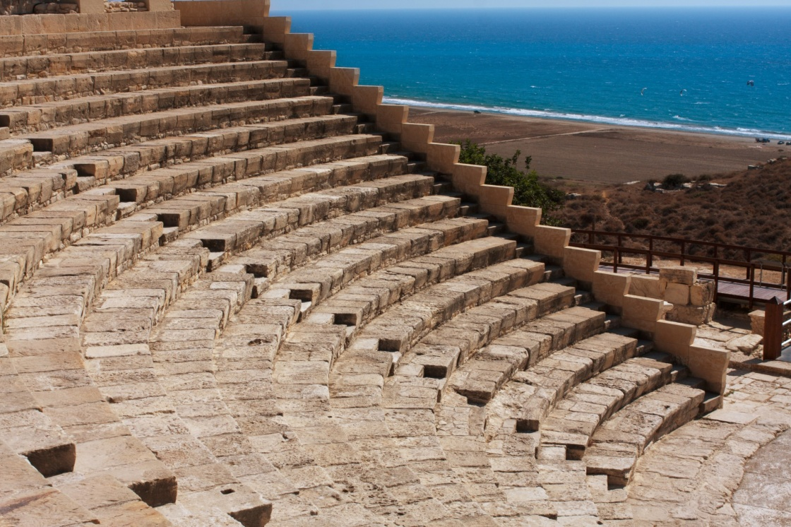 'Ancient theatre at Kourion, Cyprus' - Cyprus