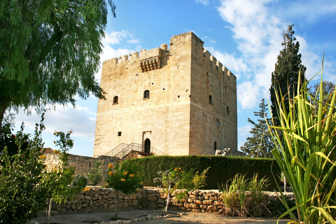 Kolossi Castle,strategic important fort of Medieval Cyprus,fine example of military architecture,originally built in 1210 by Frankish military,rebuilt in 1454 by the Hospitallers.